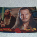 Star Wars Evolution topps 2001 Qui-Gon Jinn foil card